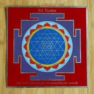 Sri Yantra groß mit Mantra