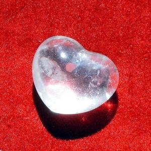 Bergkristall Herz Klein