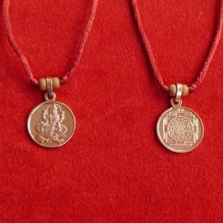 Sri Yantra - Lakshmi Anhänger Kupfer
