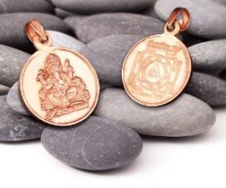 Ganesha Yantra Anhänger Kupfer