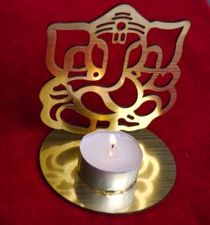 Ganesha Teelicht Gold