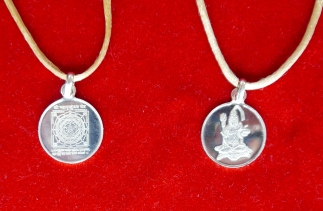 Maha Mrityunjay Yantra Anhänger Silber
