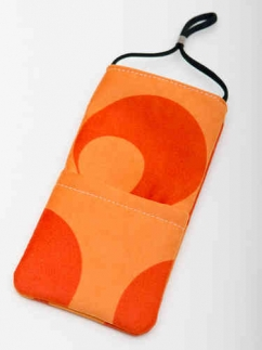 Handy Abschirmtasche Retro orange XL