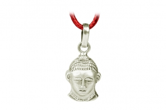 Buddha Kopf Silber